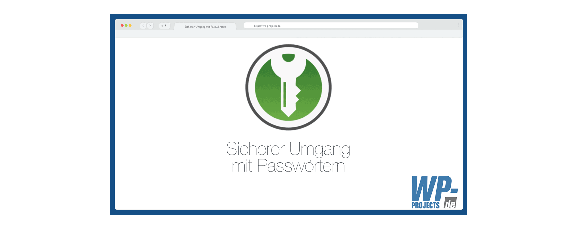 Beitragsbild zum Vortrag Sicherer Umgang mit Passwörtern