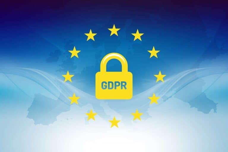 Bild mit DSGVO bzw. GDPR Zeichen