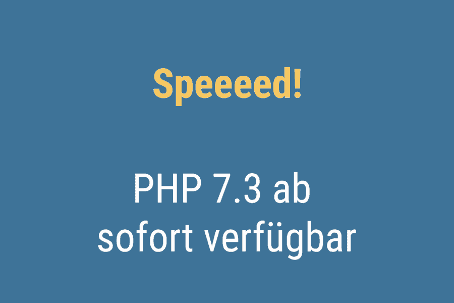 PHP 7.3 ist ab sofort bei WP-Projects verfügbar